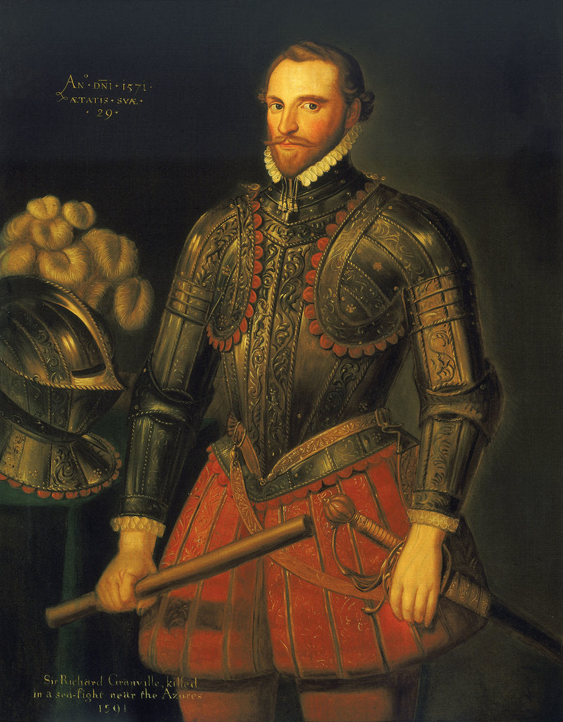 Detail of Sir Richard Grenville (1541?-1591) by British School