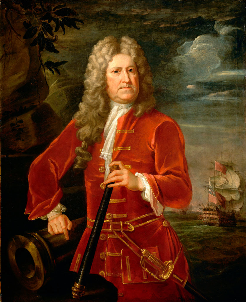 Detail of Admiral Nicholas Haddock (1686-1746) by British School