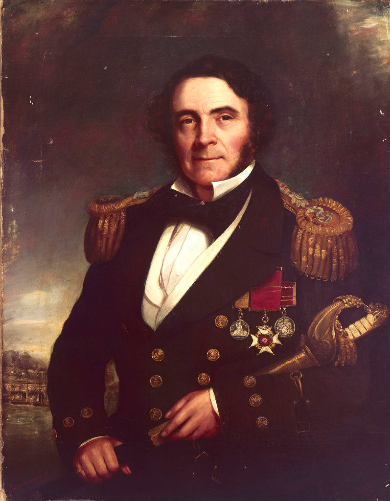 Detail of Captain Sir William Hutcheon Hall (1797?-1878) by British School