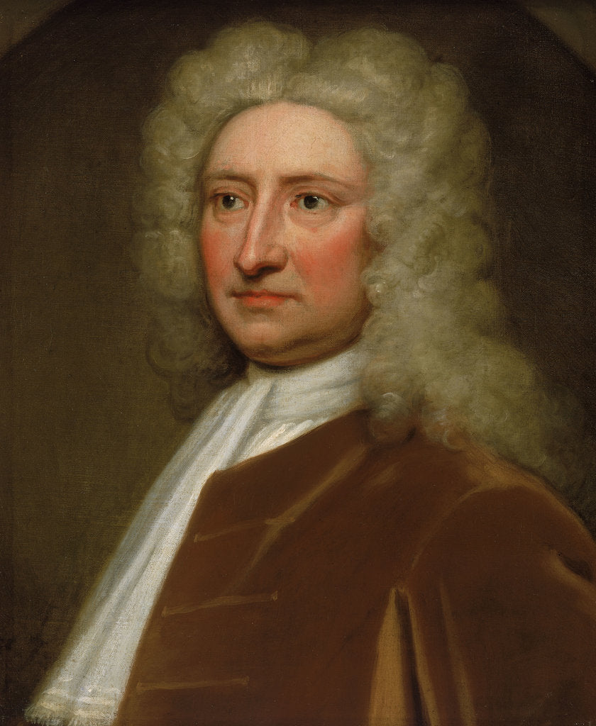 Detail of Edmond Halley, Astronomer Royal (1656-1746) by Godfrey Kneller