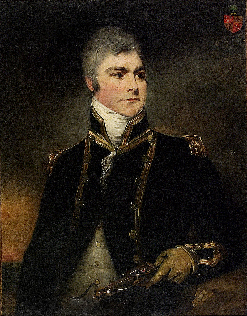Detail of Captain Sir Charles Hamilton by William Beechey