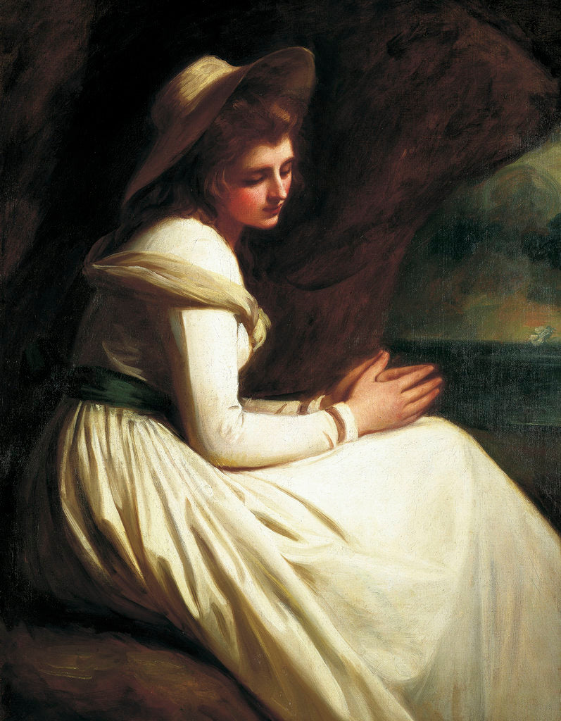 Detail of Emma Hart, later Lady Hamilton (circa 1761-1815) by George Romney