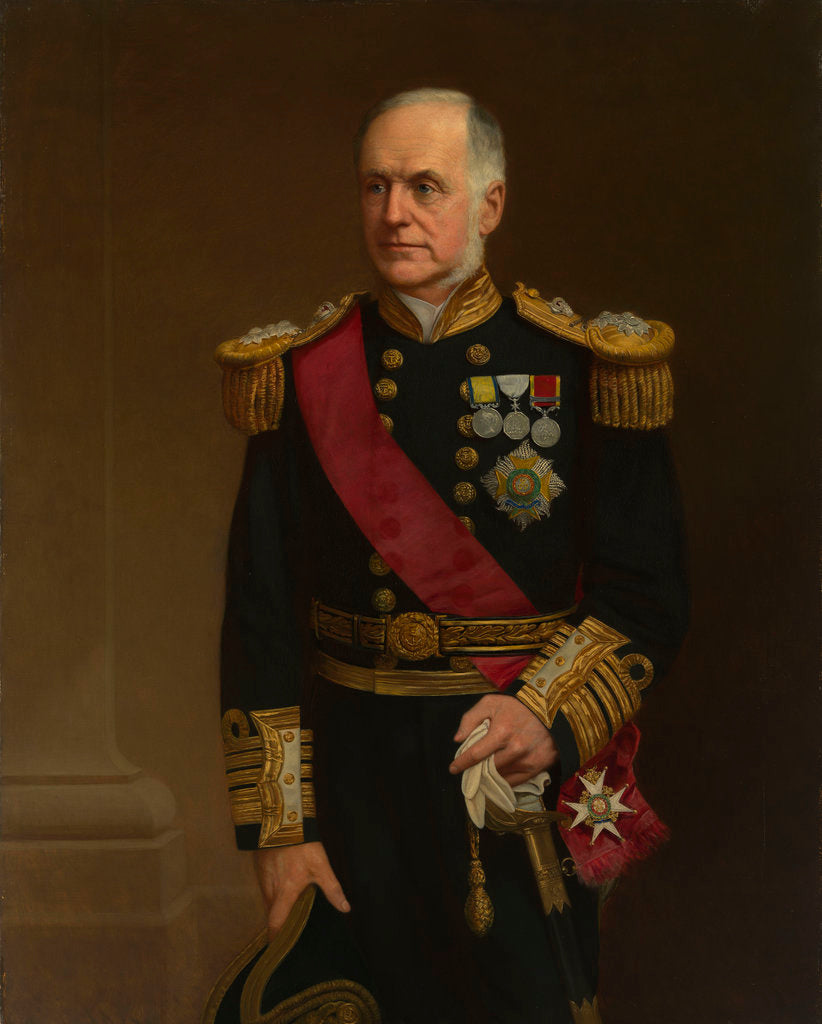 Detail of Portrait of Admiral Sir Richard Vesey Hamilton (1829-1912) by 20th Century British School