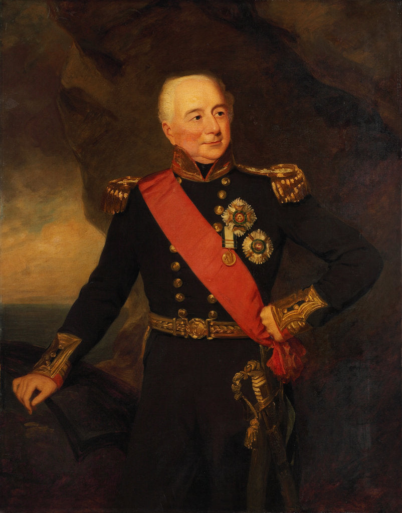 Detail of Admiral Sir William Hargood (1762-1839) by Frederick Richard Say