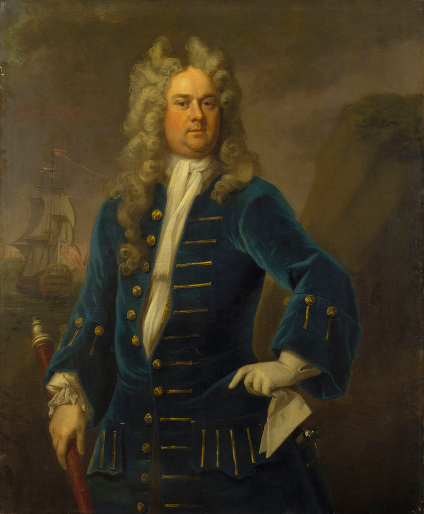 Detail of Captain Robert Harland (circa 1680-1751) by Michael Dahl