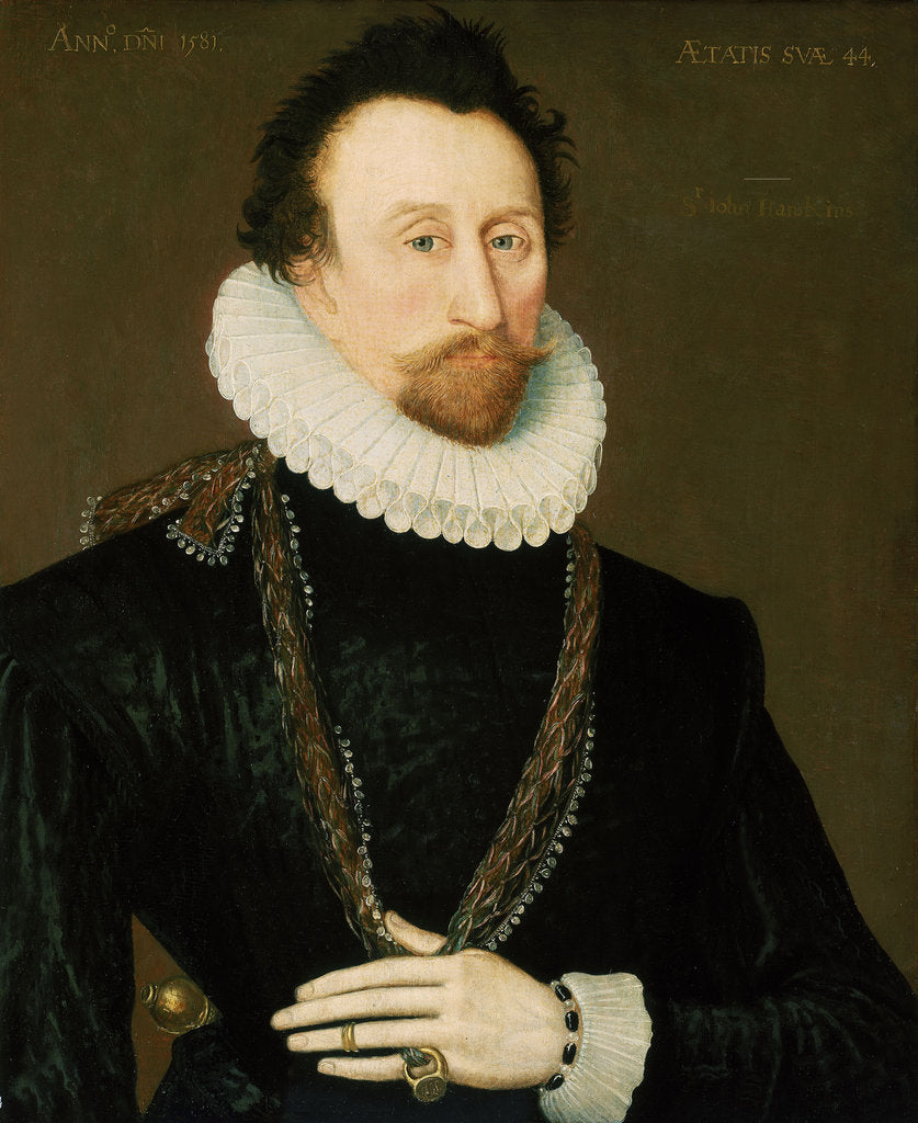 Detail of Sir John Hawkins (1532-1595) by unknown