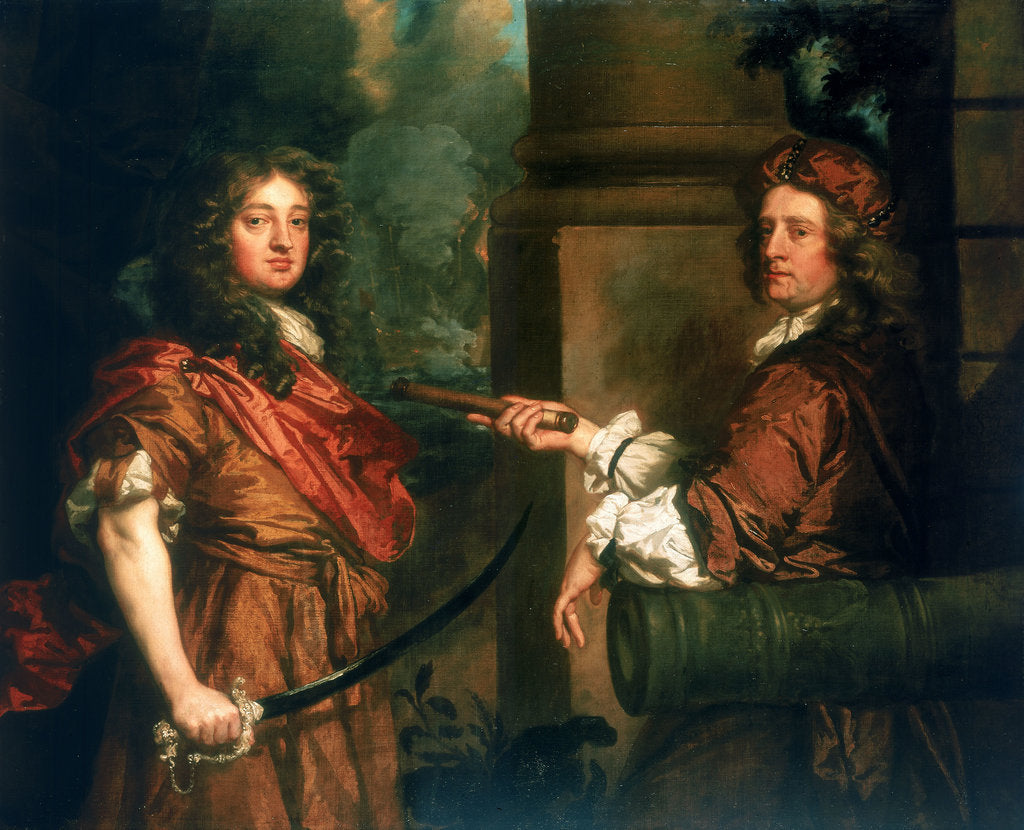 Detail of Sir Frescheville Holles and Sir Robert Holmes (1641-1672) by Peter Lely