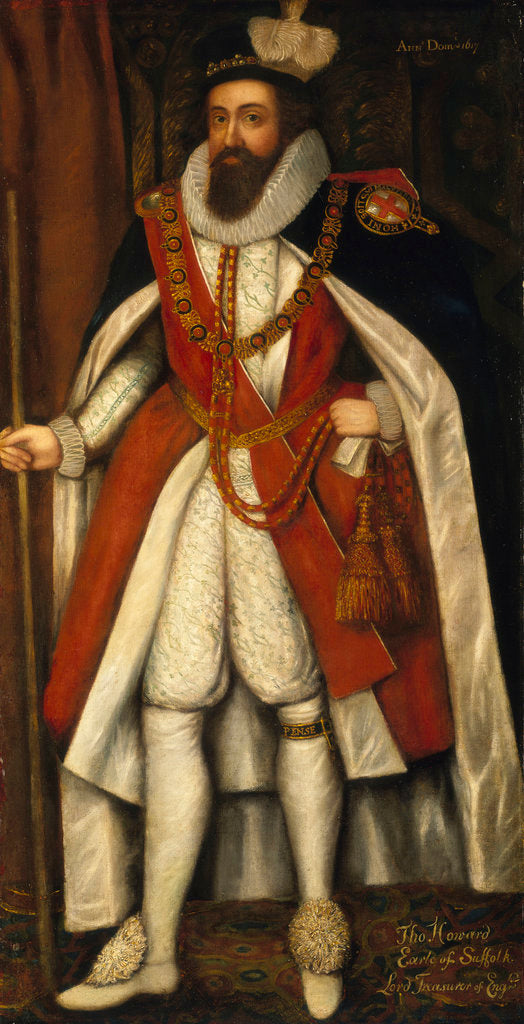 Detail of Thomas Howard, 1st Earl of Suffolk (1561-1626) by Daniel Mytens the Elder