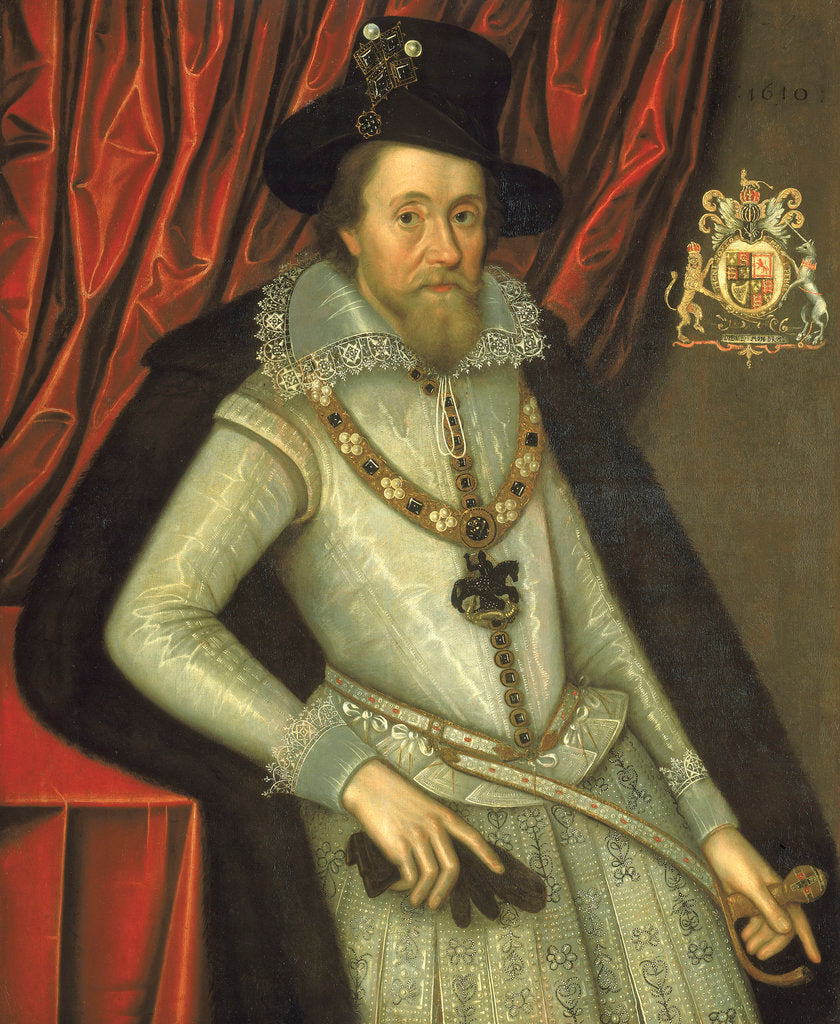 Detail of James I (1566-1625) by John de Critz