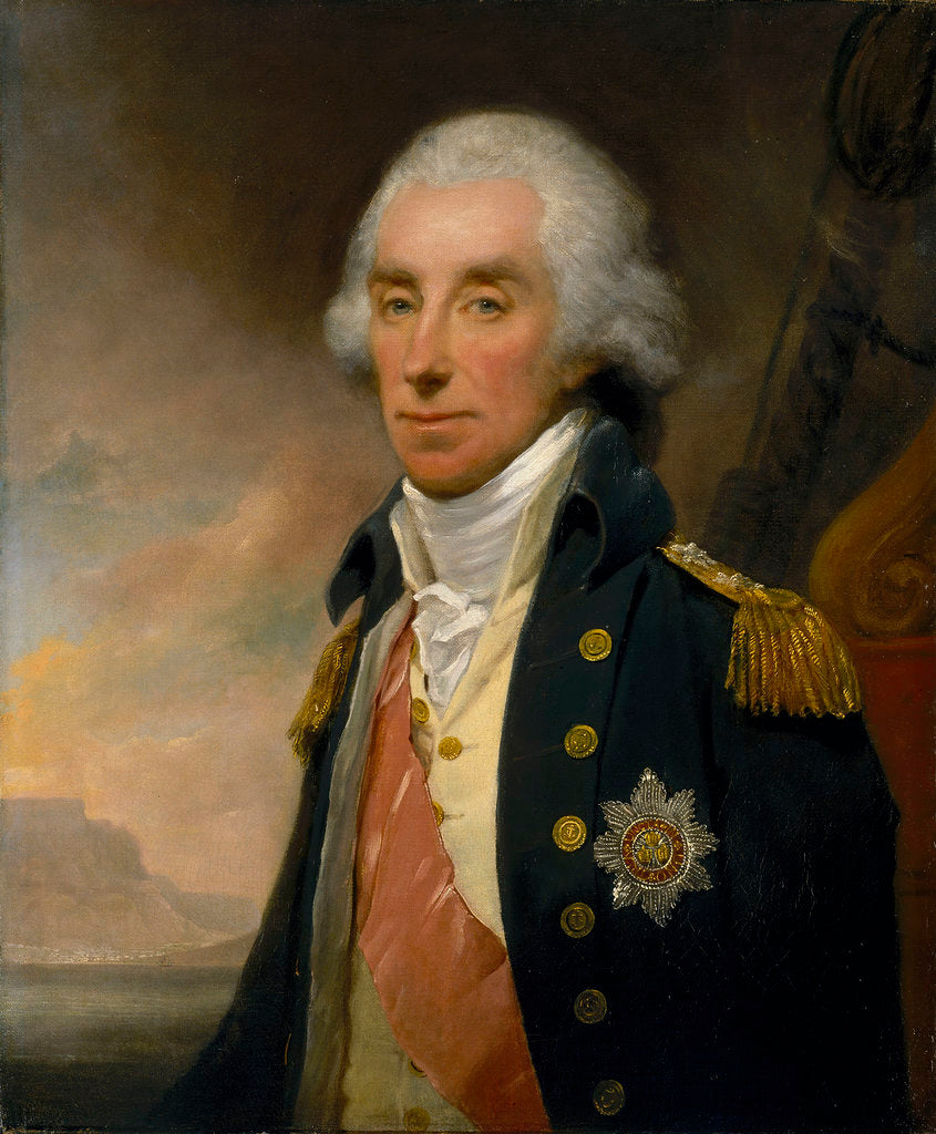 Detail of Admiral Lord George Keith Elphinstone, 1st Viscount Keith (1746-1823) by William Owen