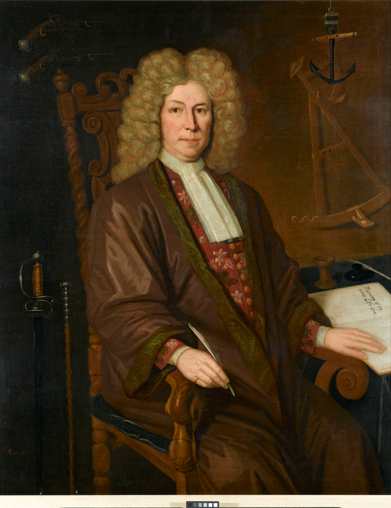 Detail of Captain Robert Knox (1642-1720) of the East India Company by P. Trampon