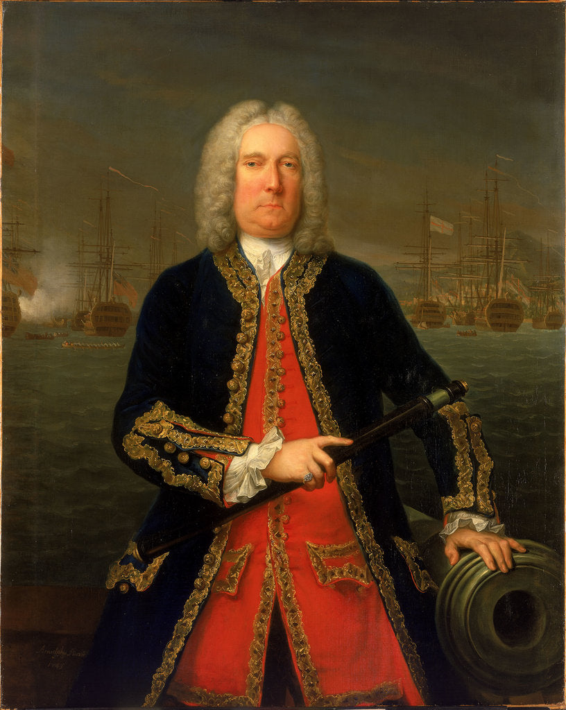 Detail of Admiral Thomas Mathews (1676-1751) by Claude Arnulphy
