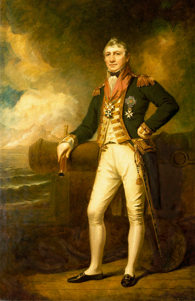 Detail of Admiral Sir David Milne (1763-1845) by George Frederick Clarke