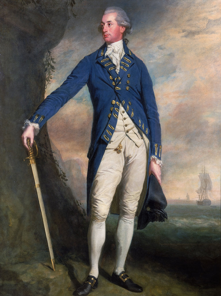 Detail of Captain Sir George Montagu (1750-1829) by Thomas Beach