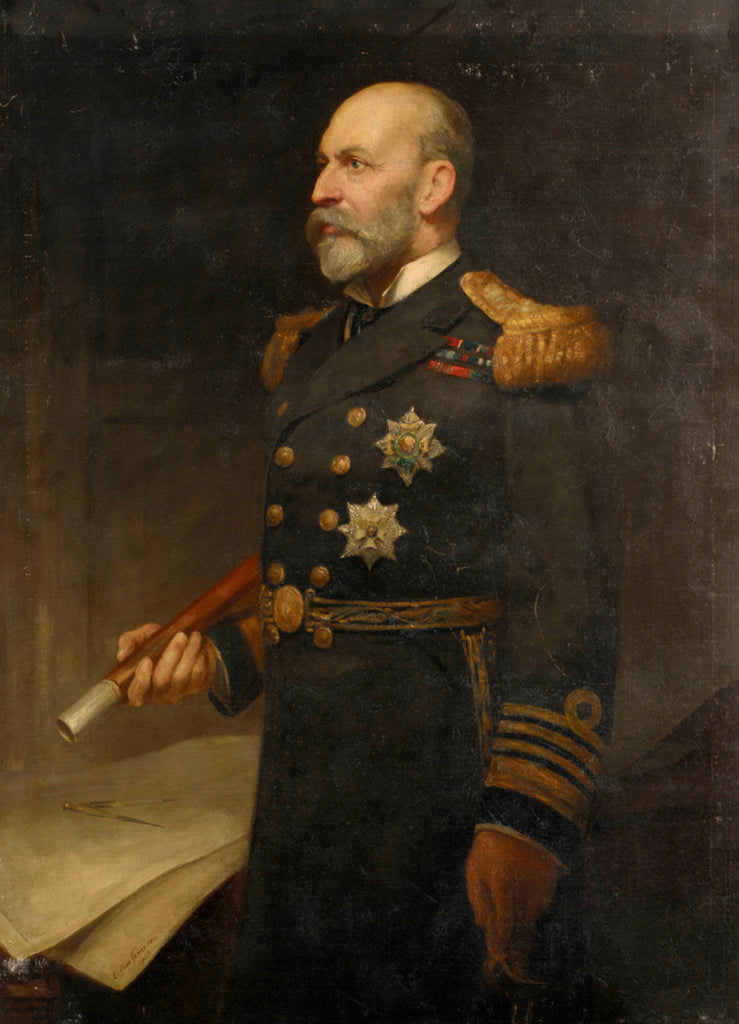 Detail of Admiral Sir Arthur William Moore (1847-1934) by Edmund Lawrence van Someren