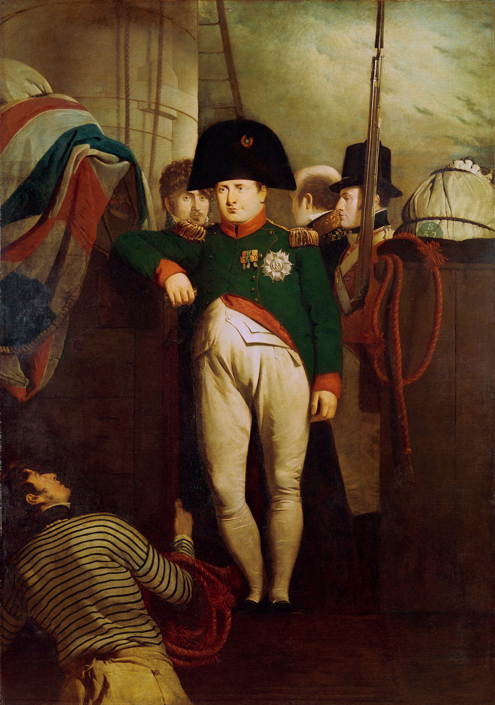 Detail of Napoleon Bonaparte on board the 'Bellerophon' in Plymouth Sound by Charles Lock Eastlake