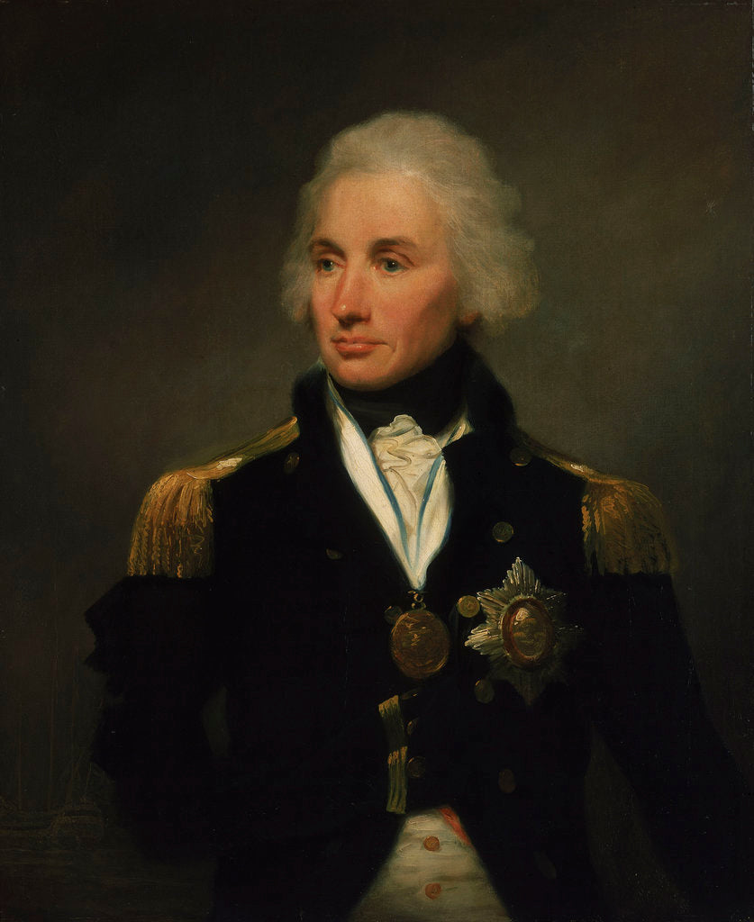 Detail of Vice-Admiral Horatio Nelson, 1st Viscount Nelson (1758-1805) by Lemuel Francis Abbott