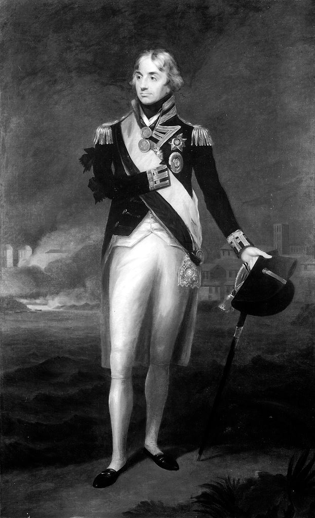 Detail of Rear-Admiral Horatio Nelson, 1st Viscount Nelson (1758-1805) by Lemuel Francis Abbott