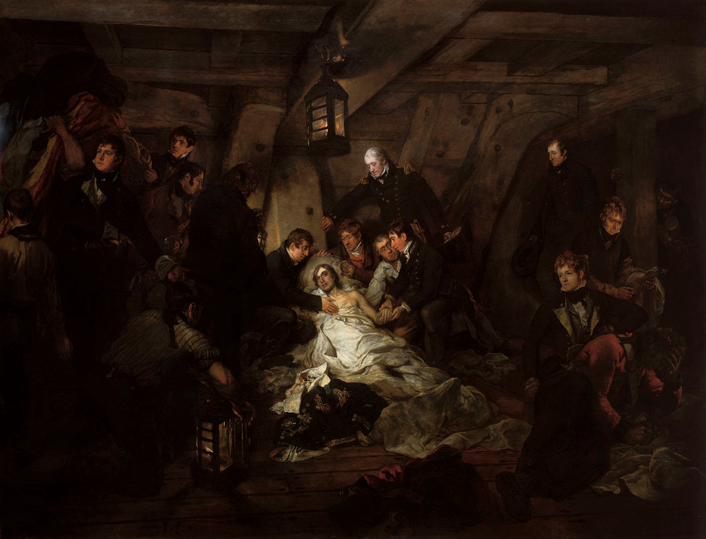 Detail of The death of Nelson, 21 October 1805 by Arthur William Devis