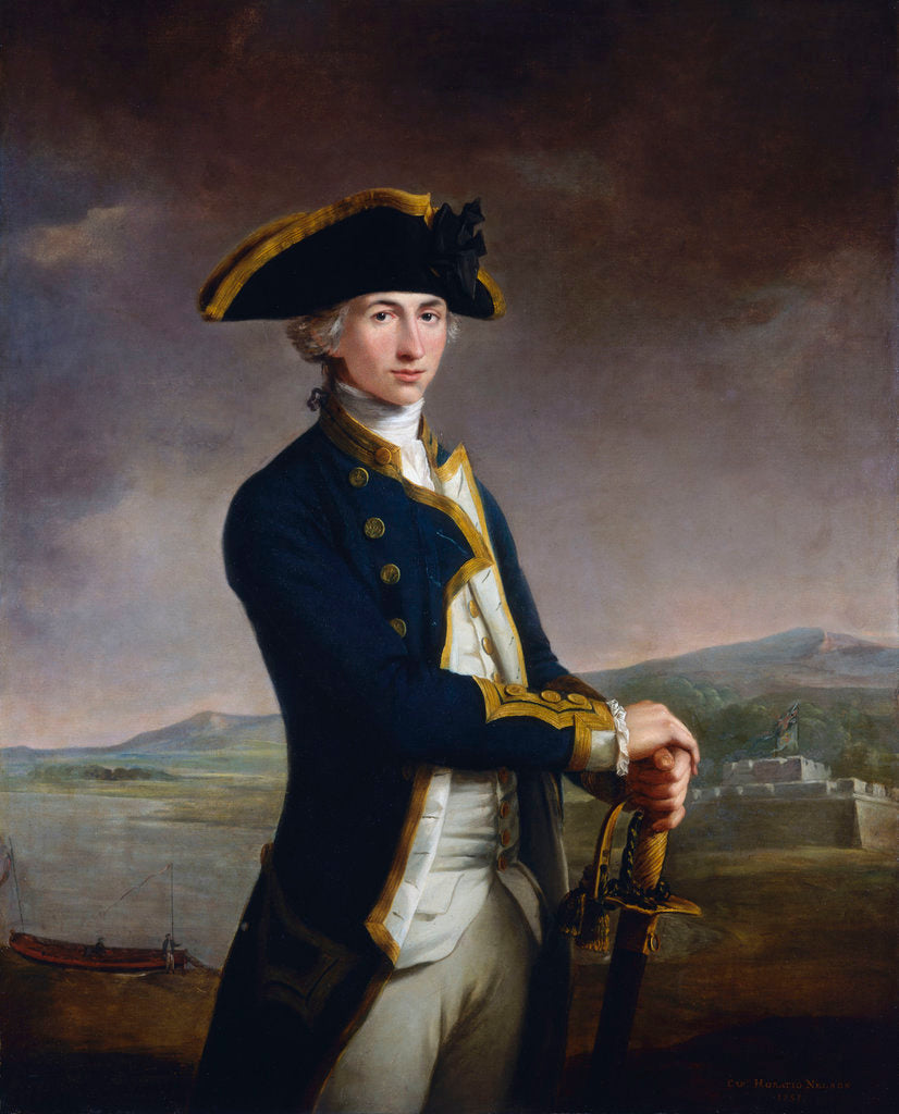 Detail of Captain Horatio Nelson (1758-1805) by John Francis Rigaud