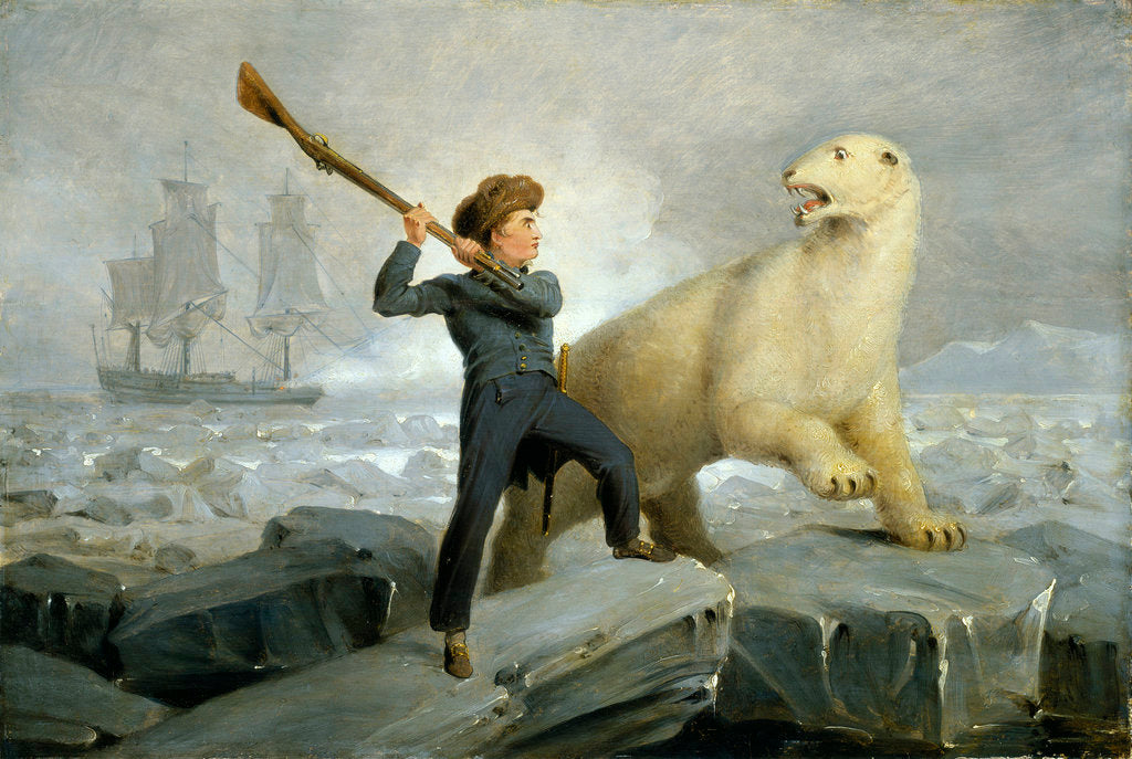 Detail of Nelson and the bear by Richard Westall