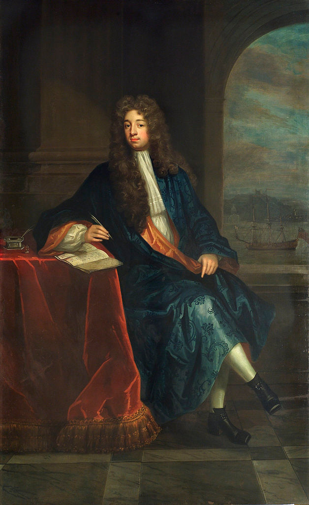 Detail of Robert Osbaldeston, (d.1715) by Charles D'Agar