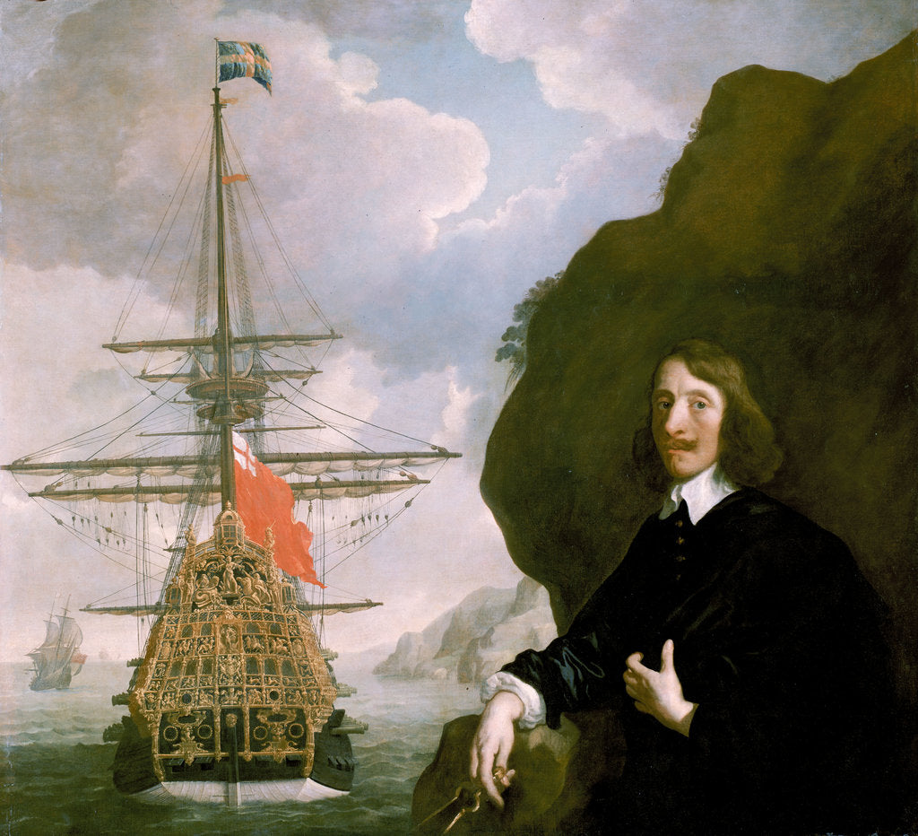 Detail of Peter Pett and the 'Sovereign of the Seas' (1637) by Peter Lely