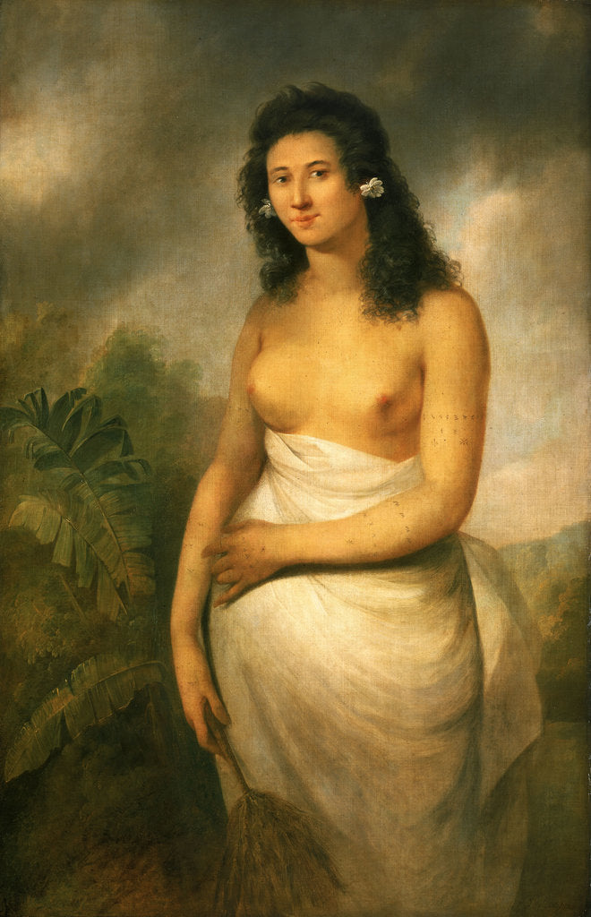 Detail of Poedooa, the Daughter of Oree, (b. circa 1758) by John Webber