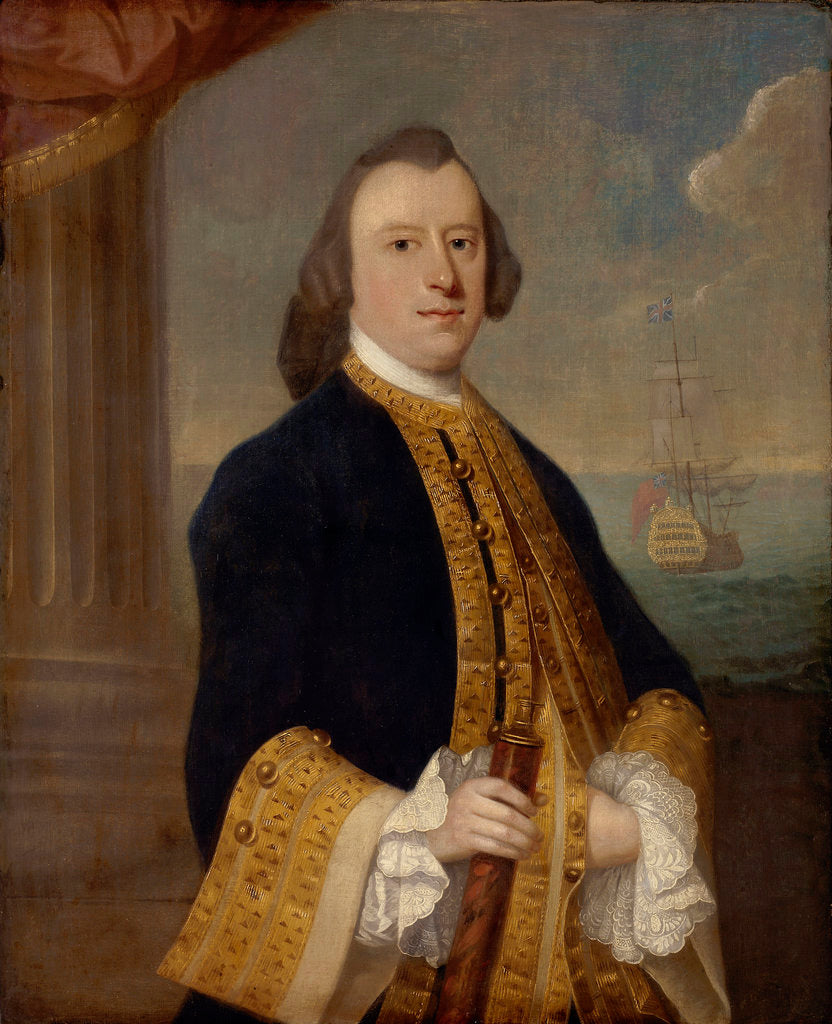 Detail of Captain John Reynolds (circa 1713-1788) by Jeremiah Theus