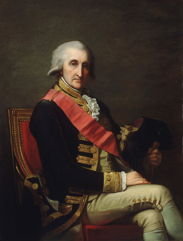 Detail of Admiral Lord George Brydges Rodney, 1st Baron Rodney (1719-1792) by Jean-Laurent Mosnier