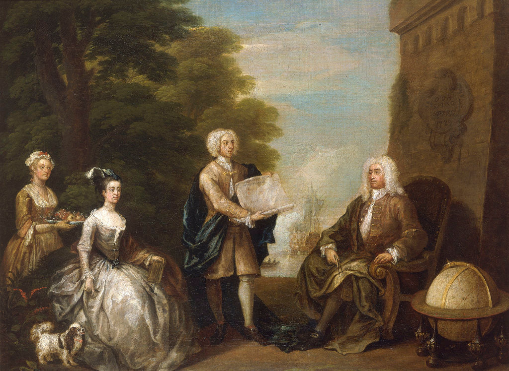 Detail of Woodes Rogers and his family by William Hogarth