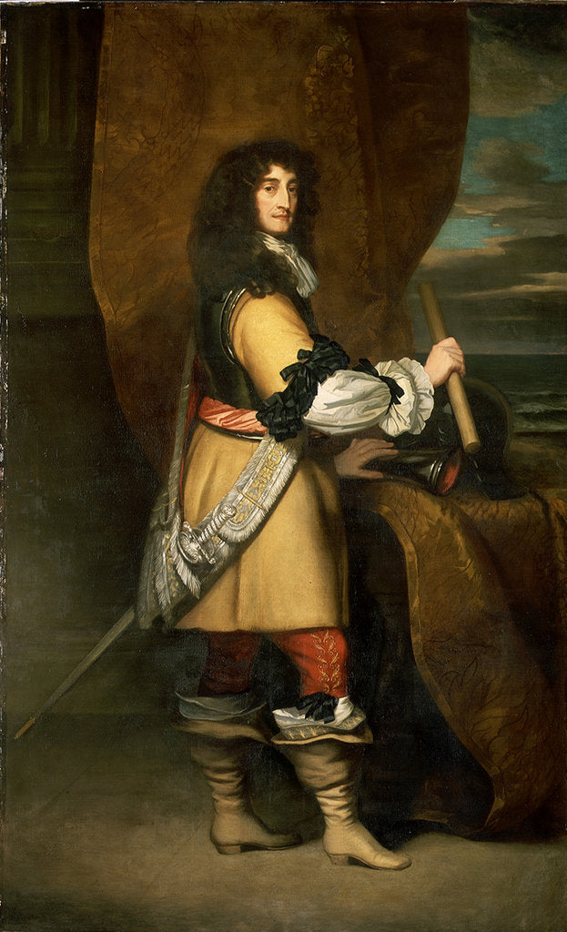 Detail of Prince Rupert, 1st Duke of Cumberland and Count Palatine of the Rhine (1619-1682) by Peter Lely