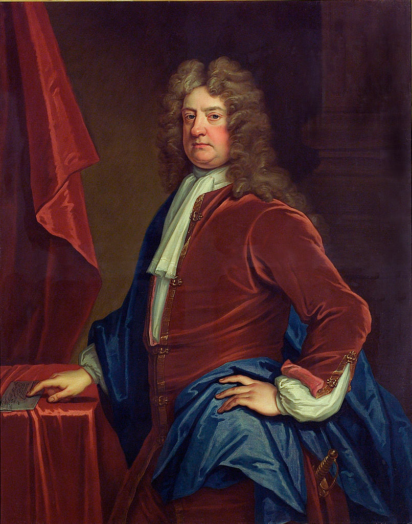 Detail of Admiral Edward Russell, 1st Earl of Orford (1653-1727) by Thomas Gibson