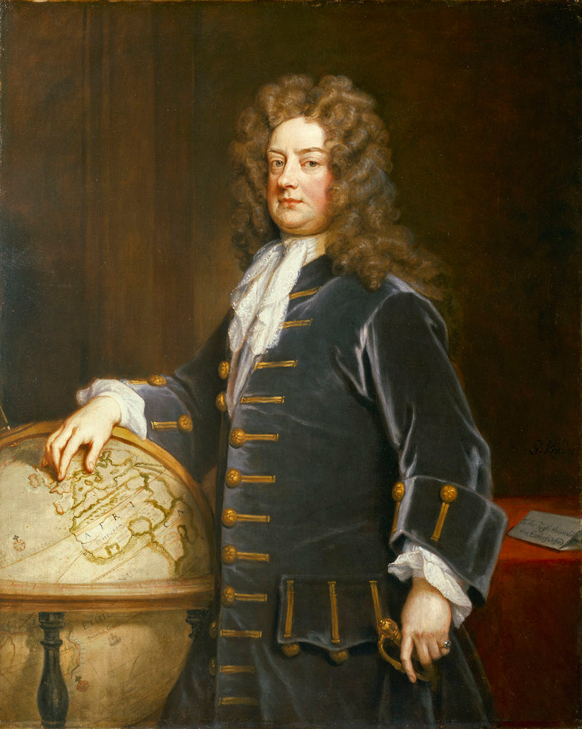 Detail of Admiral Edward Russell, 1st Earl of Orford (1653-1727) by Godfrey Kneller