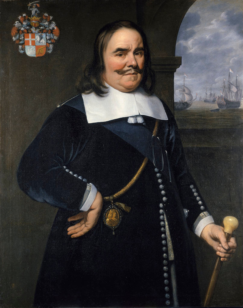 Detail of Michiel Adriaenszoon de Ruyter, Lieutenant-Admiral-General of the United Provinces (1607-1676) by Hendrick Berckman