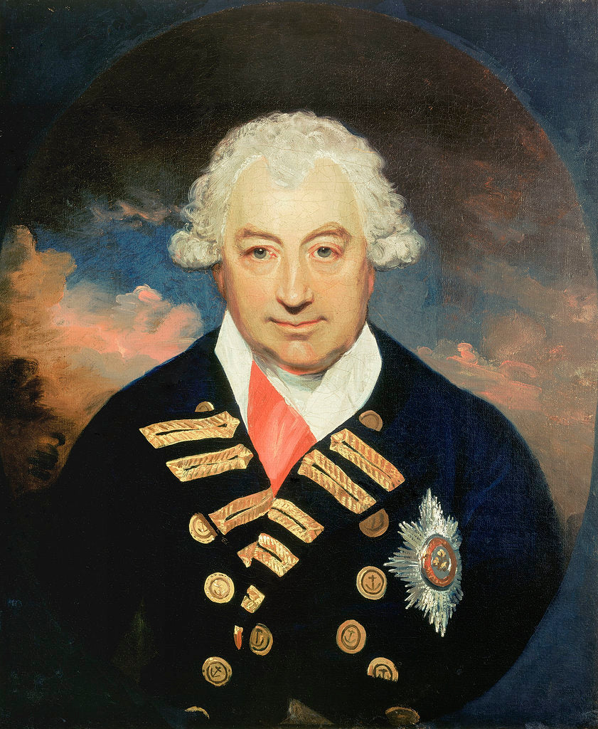Detail of Rear-Admiral Sir John Jervis, 1st Earl of St Vincent (1735-1823) by William Beechey