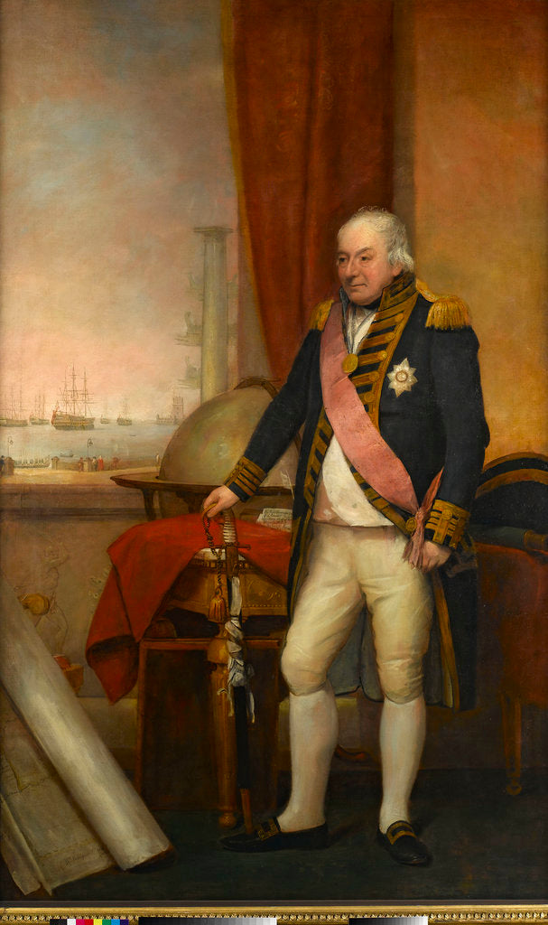 Detail of Rear-Admiral Sir John Jervis, 1st Earl of St Vincent (1735-1823) by Domenico Pellegrini