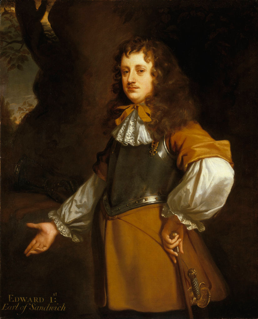 Detail of Edward Montagu, 1st Earl of Sandwich (1625-1672) by Peter Lely