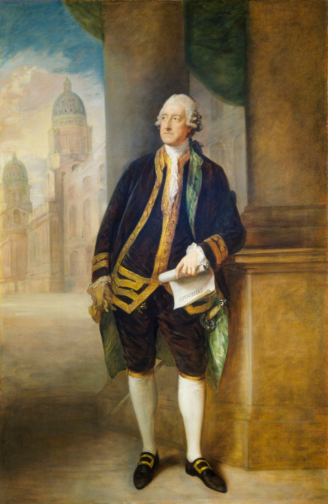 Detail of John Montagu, 4th Earl of Sandwich, 1st Lord of the Admiralty (1718-1792) by Thomas Gainsborough