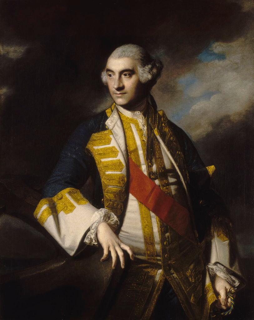 Detail of Admiral Sir Charles Saunders (1713-1775) by Joshua Reynolds