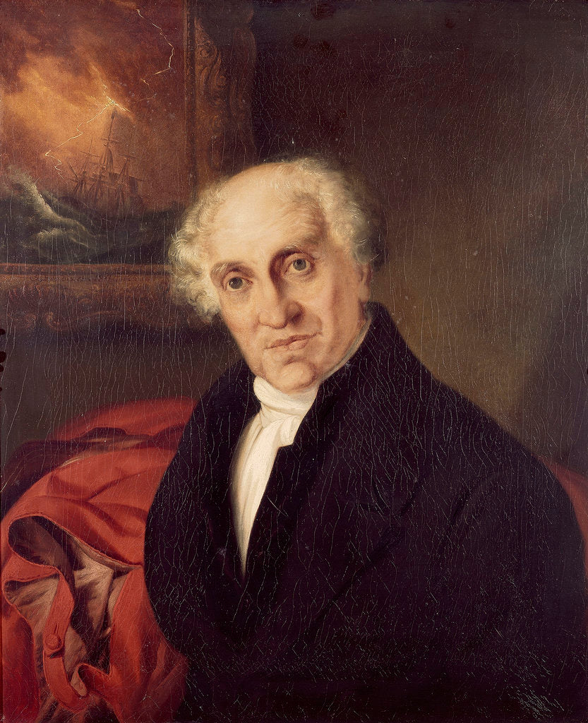 Detail of The Reverend Doctor Alexander Scott (1768-1840) by Siegfried Detlen Bendixen