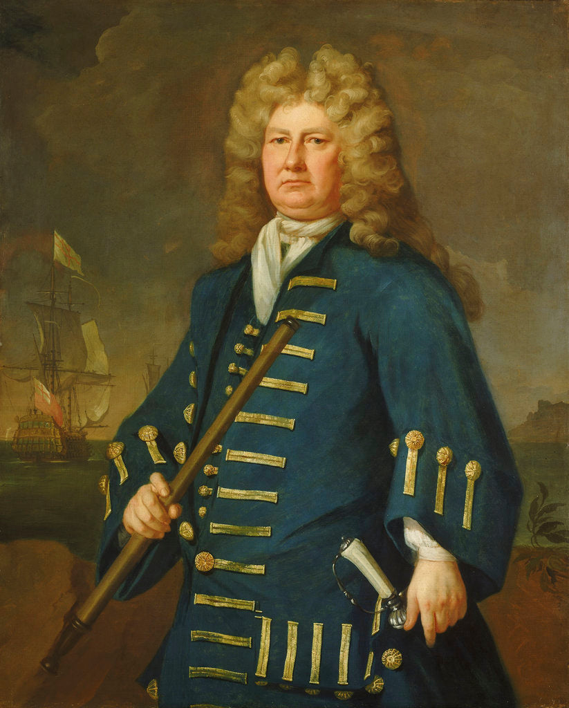 Detail of Admiral Sir Cloudesley Shovell (1650-1707) by Michael Dahl