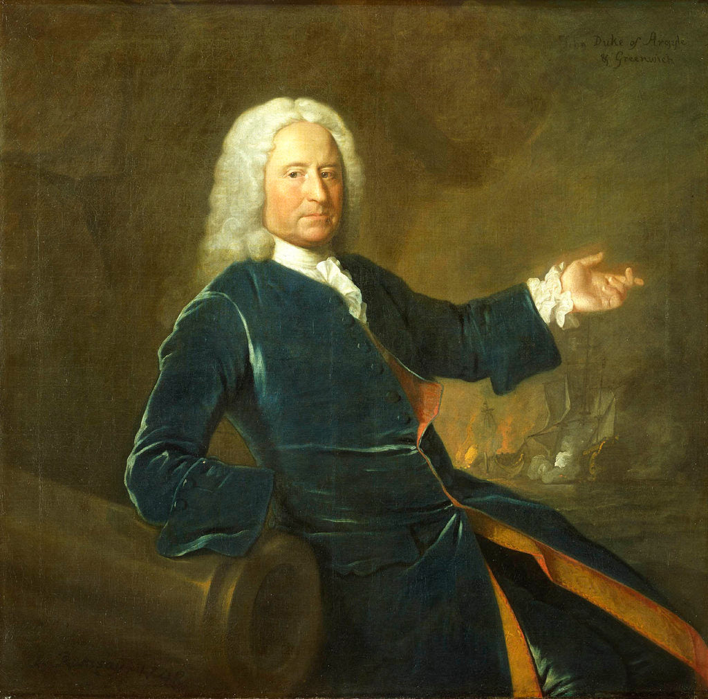 Admiral The Honourable Charles Stewart (1681-1740) by Allan Ramsay
