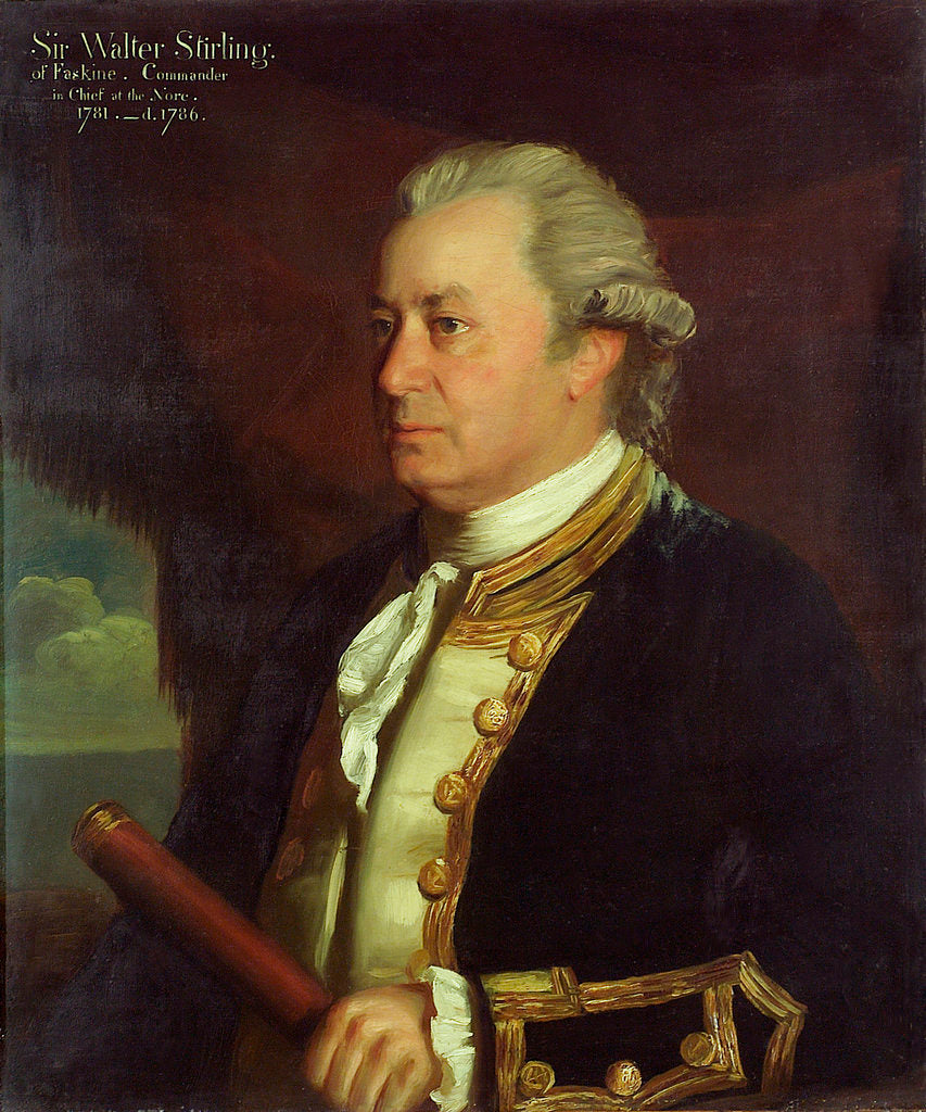 Detail of Captain Sir Walter Stirling (1718-1786) by James Northcote