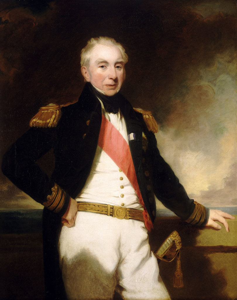 Detail of Admiral Sir Robert Stopford (1768-1847) by Frederick Richard Say