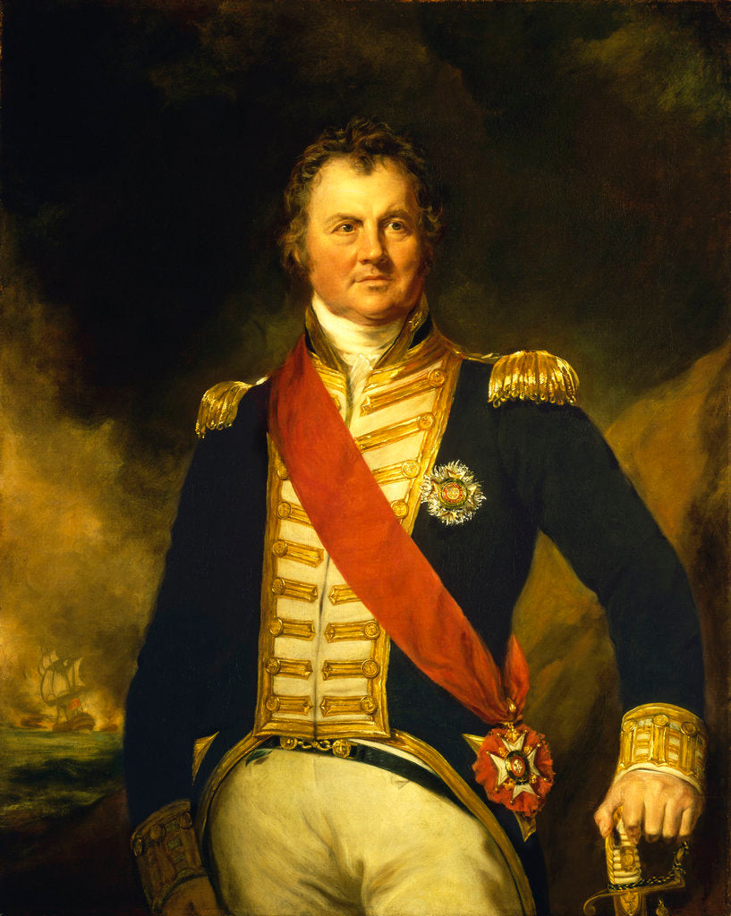 Detail of Admiral Sir Edward Thornborough (1754-1834) by Samuel Lane