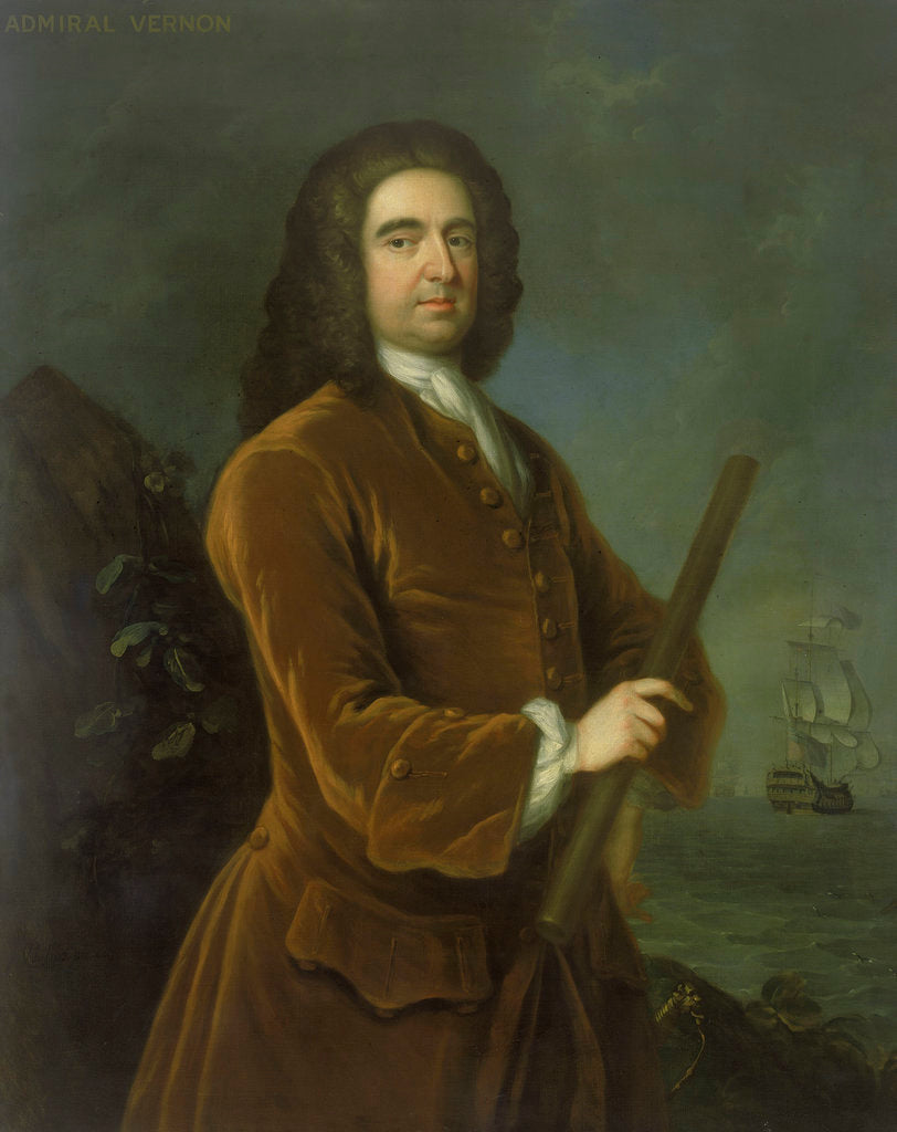 Detail of Admiral Edward Vernon (1684-1757) by Charles Philips