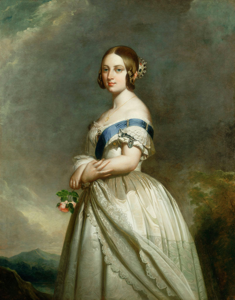 Detail of Queen Victoria (1891-1901) by Franz Xaver Winterhalter