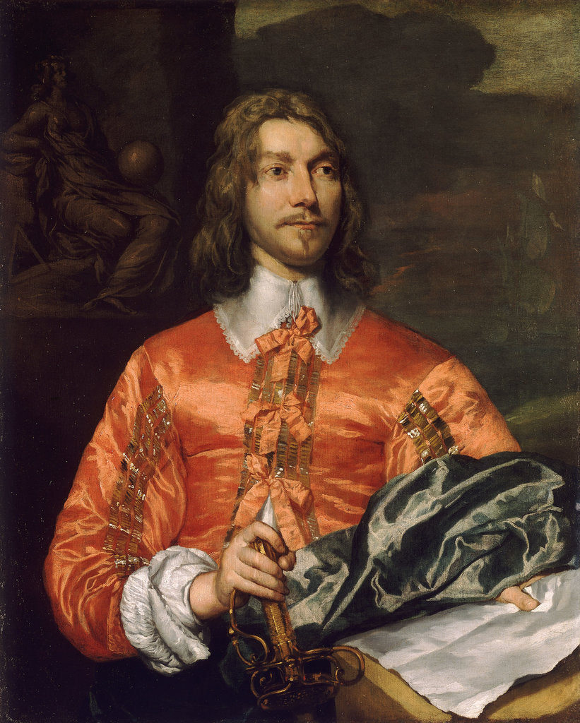 Detail of Portrait of a royalist by William Dobson