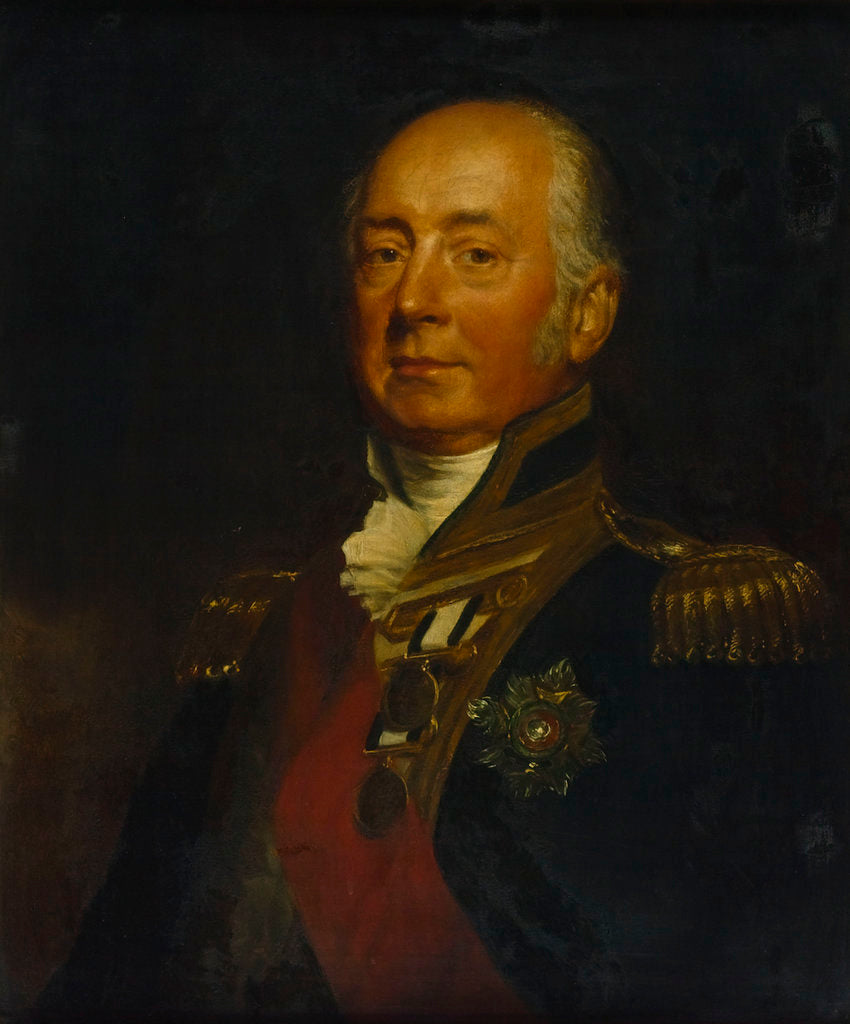 Detail of Vice-Admiral Sir James de Saumarez, 1st Baron de Saumarez (1757-1836) by Samuel Lane